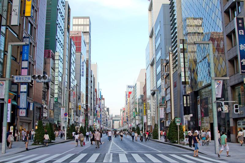 Free Walk in Ginza.